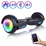 """SISIGAD Bluetooth Hoverboard, 6.5"""" Two-Wheel Self Balancing Hoverboard w/Bluetooth Speaker - Pure Color Series"""