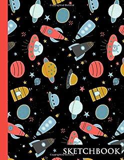 Sketchbook: Cute Trendy Sky Rocket plain Unlined Paper Notebook Journal | Pretty Blank Unlined Workbook for Teens Kids Stu...