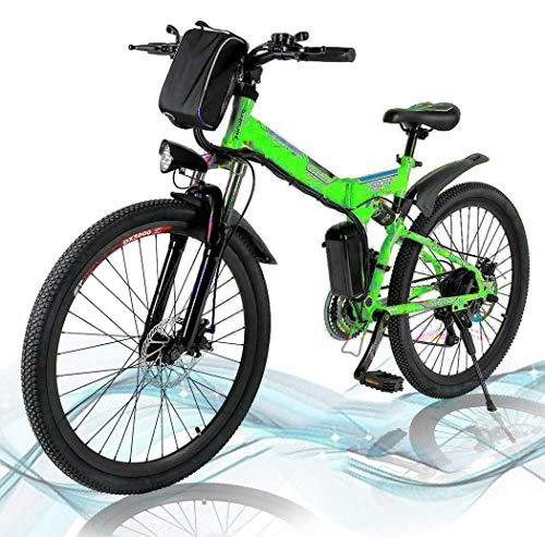 Mountain Bike Pieghevole, Bici elettriche da Strada a Sospensione Completa con Freni a Disco, Bici da Mountain Bike per Uomo a velocità di Shock, Bici da MTB a Sospensione Completa Gt