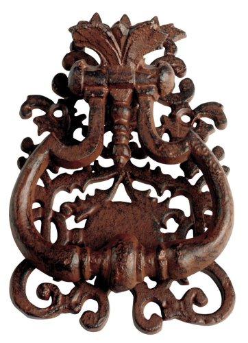 Esschert Design Türklopfer mit klassischem Motiv aus Gusseisen, ca. 13 cm x 3 cm x 19 cm