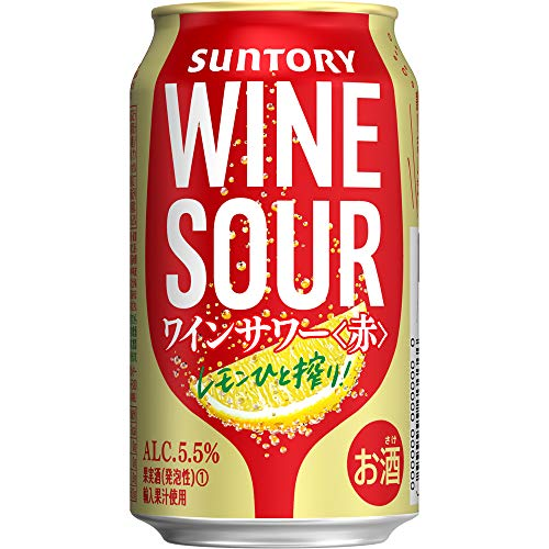 【甘くない本格ワインサワー】 サントリー ワインサワー 赤 [ スパークリング 日本 350ml×24本 ]