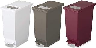 新輝合成 フタ付きゴミ箱 ユニード ゴミ箱 ペダル プッシュ ペール 3色 3個セット 20L