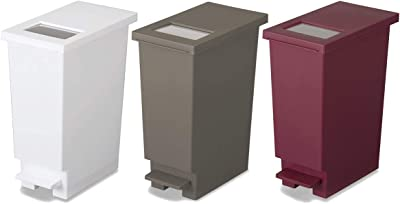 トンボ ゴミ箱 3個セット 20L 日本製 フタ付き プッシュタイプ ペダル式 ホワイト ブラウン ワインレッド ユニード 新輝合成 20S