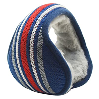 Mraw Winter Is Coming – Get Your Ear Warmer Ready – Back Worn Stylish Cozy Colorful Stripe Earmuff – Fit On Your Head – Fit In Your Pocket