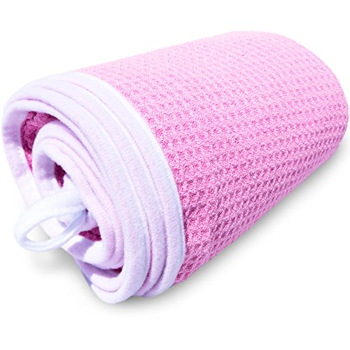 desired body Microfiber Hair Towel - for Fast, Frizz-Free Drying - Premium Large, Compact, Lightweight and Absorbent - One Size Fits All - Pink