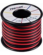 TUOFENG 16 AWG draad, 20 m siliconen draad Zachte en Flexibele Tinned koperdraad Hoge temperatuurbestendigheid 2 gescheiden draden 10 m Zwart en 10 m Rood Stranded Wire voor 3D-printer, testleads,RC appli