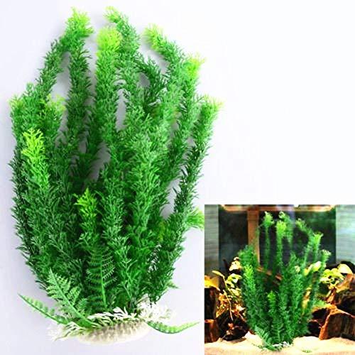 nouler Aquarium Poisson Aquarium Ornement Plante Artificielle en Plastique Eau Herbe Cadeau Accueil,Vert,Taille Unique