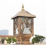 Classique Prune tuile Couverture Lampe Jardin clôture Colonne Phare extérieur ingénierie Pilier lumière Route communauté réverbère Paysage éclairage