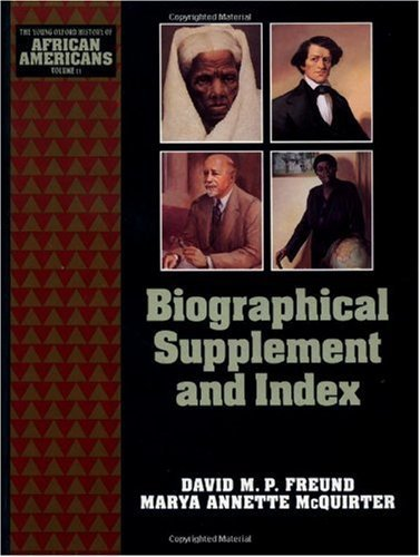Biographical Supplement and Index (The Young Oxford History of African Americans Book 11)