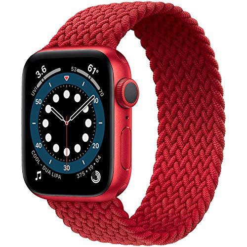 JONWIN Correa Solo Loop Trenzada Compatible con Apple Watch 38mm 40mm 42mm 44mm,Deportiva de Repuesto de Fibras de Silicona Trenzadas elásticas para Nylon Correa para iWatch Series 6/5/4/3/2/1
