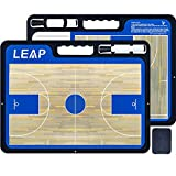 LEAP Coach Board Basketball Tactical Coaching Two Sides with Full & Half Court Feature Premium Dry Erase Tool Icehockey Football for Kids, Community, High School Team