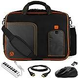Orange Laptop Bag, HDMI Cable, Mouse, USB Hub for ASUS Transforme, ROG, ASUSPRO, ZenBook, VivoBook 14' to 15.6 inch