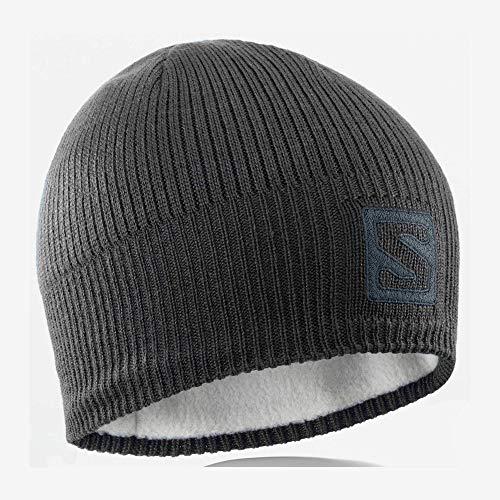 Salomon Unisex Wintermütze, LOGO BEANIE, Schwarz, Einheitsgröße, L36685000
