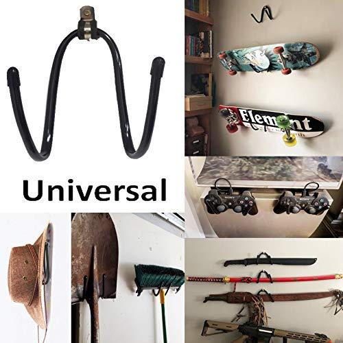 Universal Design Wandregal – Verstellbares Wand- und Türregal, Organizer, Kleiderbügel, Halterung, freistehend, Ablageclip für alle Skateboard und Longboard – Metall Flexible Rack