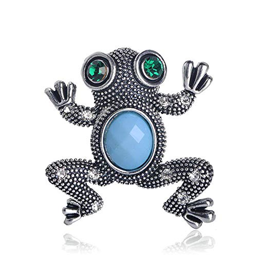 Frog Shape Animal Sky Blue Resin Corsage Accessories For Women Man Scarf Suit Hijab Pins Jewelry Brooches