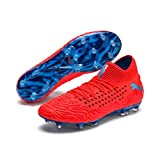 PUMA Herren Future 19.1 Netfit FG/AG Fußballschuhe, Rot (Red Blast-Bleu Azur), 45 EU