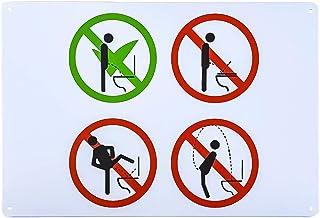 "dojune-Toilet Rules Warning Sign Retro Style 8"" X12"" Metal Sign Bar Cafe Garage Wall Decor"