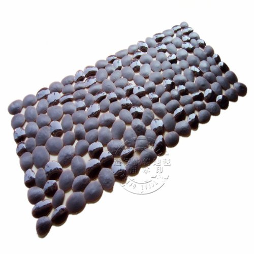 Abrasifs en PVC vert Tapis de sol antidérapant PVC 35 x 75 cm, 35 x 75 cm, marron