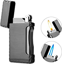 Jet Torch Cigar Lighter Soft/Jet Flame Switchable Cigarette Lighter with Adjustable Flame Dial, Butane Refillable for Tobacco Pipe & Cigar