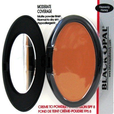 Black Opal Creme To Powder Foundation Heavenly Honey (3-Pack) with Free Nail File by Black Opal