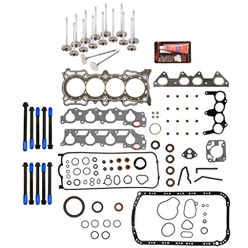 Evergreen FSHBIEV4013GCHP Full Gasket Set Head Bolts High Performance Intake Exhaust Valves Compatible With 94-97 2.2L Acura CL Honda Accord EX Vtec SOHC F22B1