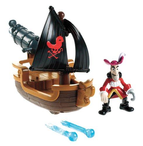 Mattel Fisher-Price W5264 - Jake und die Nimmerland Piraten Hooks Kanonenboot