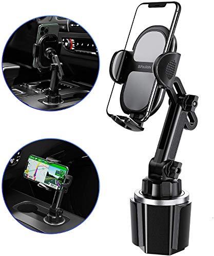 SPARIN Handyhalterung Auto Getränkehalter, Universal Handy Halterung Halter Kfz-Becherhalter für iPhone 12 Pro / 12 Mini / 12 Pro Max / 11 Pro / SE 2020, Sumsung, GPS andere Smartphone- Schwarz