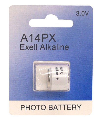 Exell A14PX 3V Alkaline Battery X14, 2MR9, EPX14, V14PX, H-2D, HS-2D, KM-2D, TR-112, TR-122R