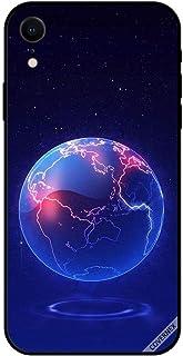 حافظة واقية لهاتف آبل آيفون XR حافظة بنمط الكرة الأرضية الزرقاء