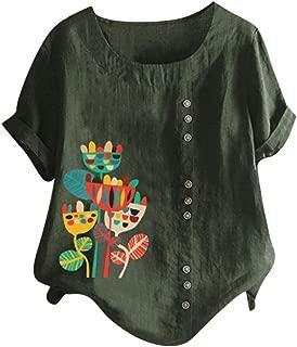 レディース ゆったり Tシャツ Hodarey Oネックカジュアル レディース半袖 花柄 シンプル ブラウス ゆったり 大きいサイズ 半袖 着痩せ きれいめ 森ガール 体型カバーおしゃれ 春 夏 カットソー 可愛い トップス 柔らかい 通学 通勤