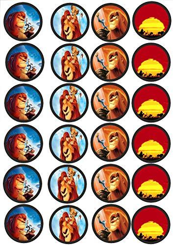 24 Muffin & Cupcake Aufleger aus Fondant König der Löwen N1