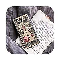 For iPhone X XS Max XR 8 7 6 6s Plus3Dエンボス塗装古代中国の紙幣電話ケースTPUシリコンソフトカバーシェル用-300 Taels-For i7 Plus i8 Plus
