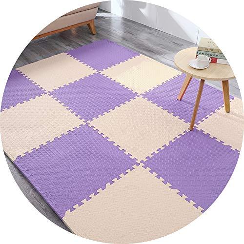 alfombra puzzle Bebe Suelo Goma Eva Entrelazar Resistente Al Desgaste Antideslizante Impermeable Proteccion Anti Caída Engrosada 2 Tallas (Color : A, Size : 60x60x2.5cm 9PCS.)