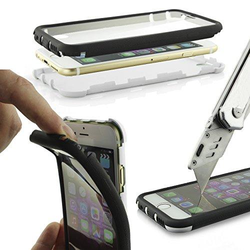 Urcover Carcasa Protectora LG G3 Funda Touch Capa Doble 360 Grados Antichoque LG G3 Protección Puertos Conexión Antigolpe Anti Arañazos Ultra Delgado Ligera en Blanco