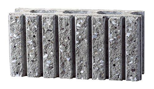 久保田セメント工業 コンクリートブロック みかげ色 7本ライン 基本横筋用 2個入り 2504101(2P)