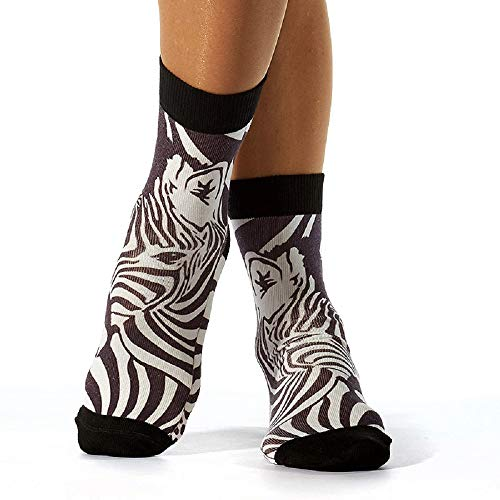 Wigglesteps Damen Socken ZEBRA, one Size (36-41)