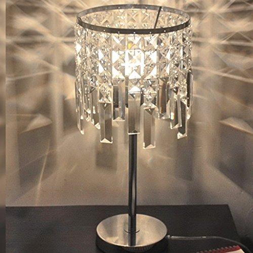 Led Cristal Lampe de Table Moderne Design Créatif avec Abat-Jour Clair en Cristal Atmosphère Romantique Éclairage pour Salon Chambre