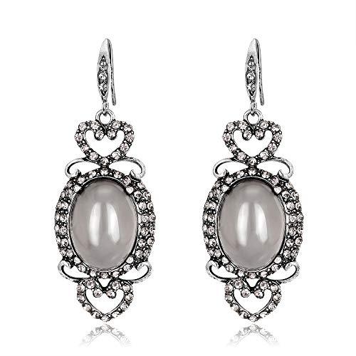 Pendientes moda temperamento retro opal stud pendientes populares aleación simple pendientes versátiles