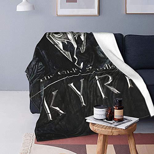 Skyrim Fleecedecke – extra weicher Fell-Bürstenstoff, superwarmer Bettüberwurf, leichte Sofadecke, pflegeleicht, für alle Jahreszeiten, 125 x 150 cm