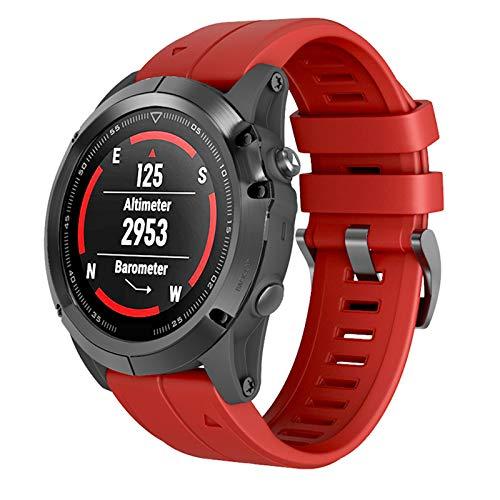 ANBEST Cinturino in Silicone Compatibili con Fenix 6X Fenix 5X Fenix 5X Plus Fenix 6X PRO Cinturino a Cambio Rapido Braccialetti per Fenix 3   Fenix 3 HR Smart Watch, Rojo