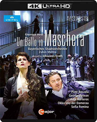 Verdi, G.: Ballo in maschera (Un) [Opera] (Bavarian State Opera, 2016) (4K Ultra-HD) [Blu-ray]