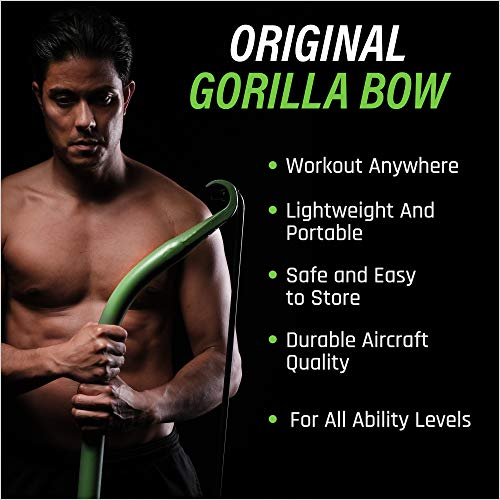 Gorilla Bow Portable Gym Equipment Set - Home Gym Resistance Training Kit - Full Body Workouts -...