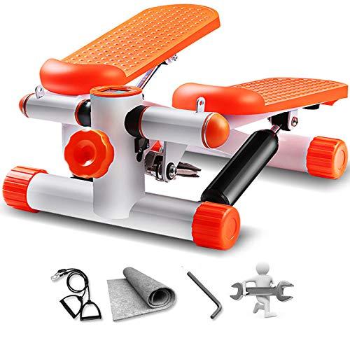 MG REAL Up-Down-Stepper, Heimtrainer, Mini-Stepper-Fitnessstudio Training Bein Oberschenkel Toning Workout Fitness Treppenarmband-Trainingsmaschine,Orange