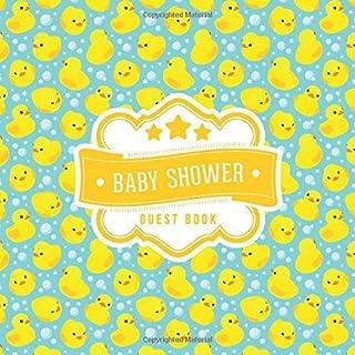Baby Shower Guest Book: Cute Ducky Duck Bubbles Pattern | + BONUS Gift Tracker Log | Keepsake Guestbook | Advice Wishes an...