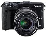 Canon EOS M3 Mirrorless Camera (Black) with EF-M...