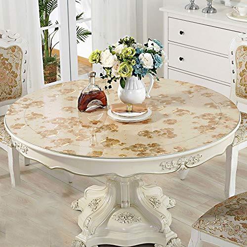 Nappe transparente/autocollant protecteur, imperméable/essuyant/souple, nappe Couverture recouvrant une table ronde, bureau | maison | cuisine | restaurant | comptoir de mariage AA~