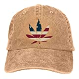 N \ A Marihuana Leaf Denim Gorra de béisbol Sombrero de béisbol Personalizado Accesorios de Béisbol Mujeres Hombres Al Aire Libre Ajustable Casqueta Papá Sombrero Natural