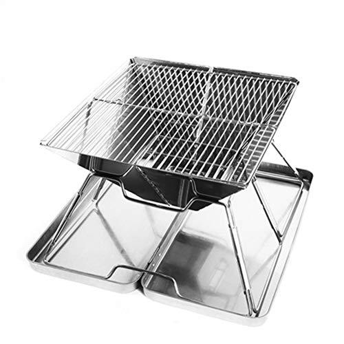 Tragbar Grill Mini Klappgrill Mit Kochgitter Carbon Mesh Aufbewahrungstasche Picknick Camping Reisegarten Im Freien