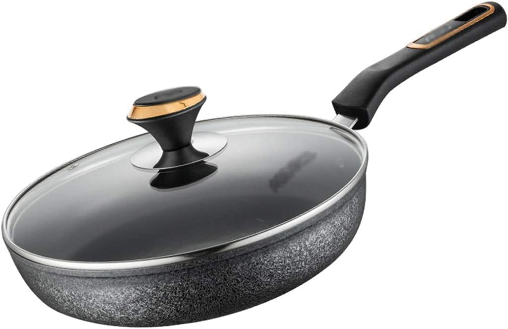 Wok Pan Seattle Mall Nonstick With Lid Frying Cooking Max 90% OFF Bre Non-stick Home