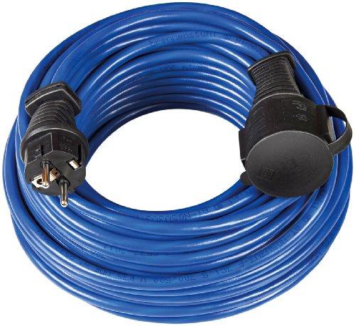 Brennenstuhl BREMAXX Verlängerungskabel (10m Kabel in blau, für den kurzfristigen Einsatz im Außenbereich IP44, Stromkabel einsetzbar bis -35 °C, Öl- und UV-beständig)